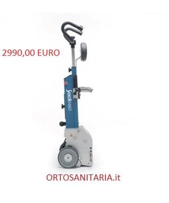 Montascale a ruote KSP agganciabile alla seggiolina, idoneo per scale con altezza gradino max. 26 cm. N 963H Yack