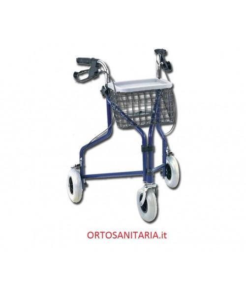 Deambulatore  a tre ruote pieghevole- blu Gima 43140