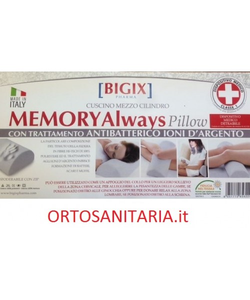 Cuscino Mezzo Cilindro.Cuscino Memory Allways Pillow